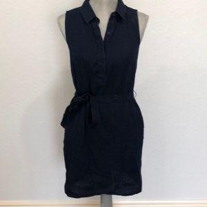 Banana republic dark denim sleeveless dress